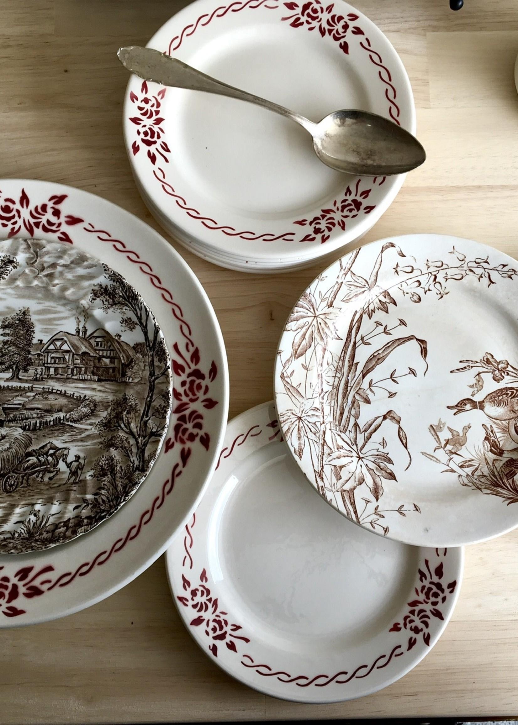 Regout Maastricht Birds desert plate
