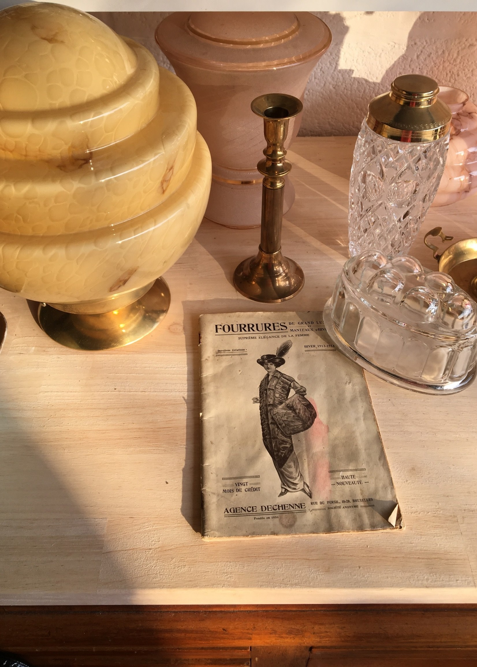 Brass and bronze candleholder