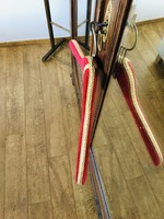 Red, pink and gold vintage velvet hangers