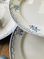 Large plate decor Floral blue Ceranord