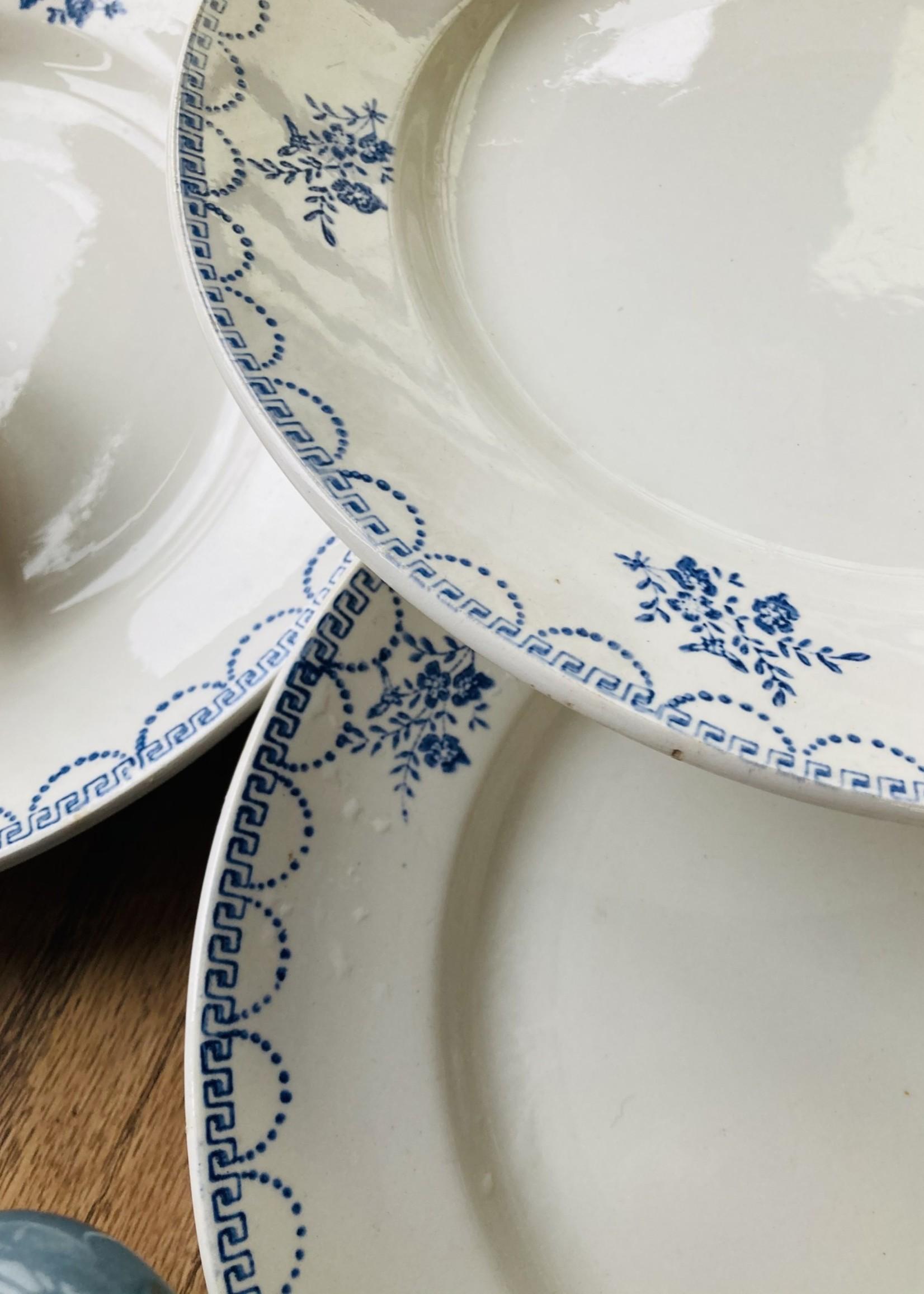 Large plate decor Floral blue Ceranord
