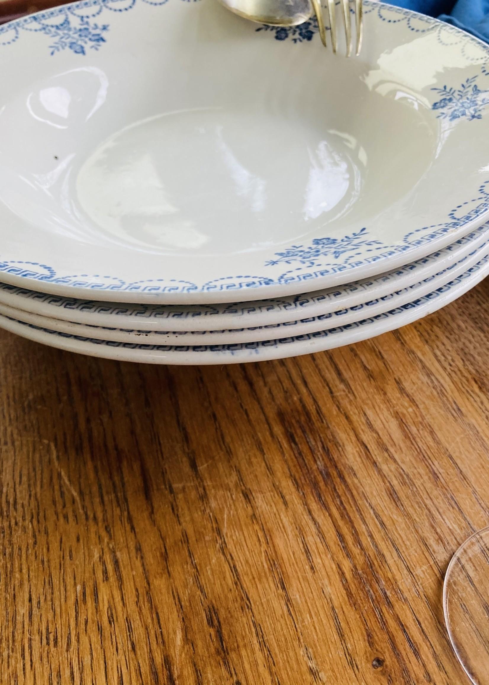 Deep plate decor Floral blue Ceranord