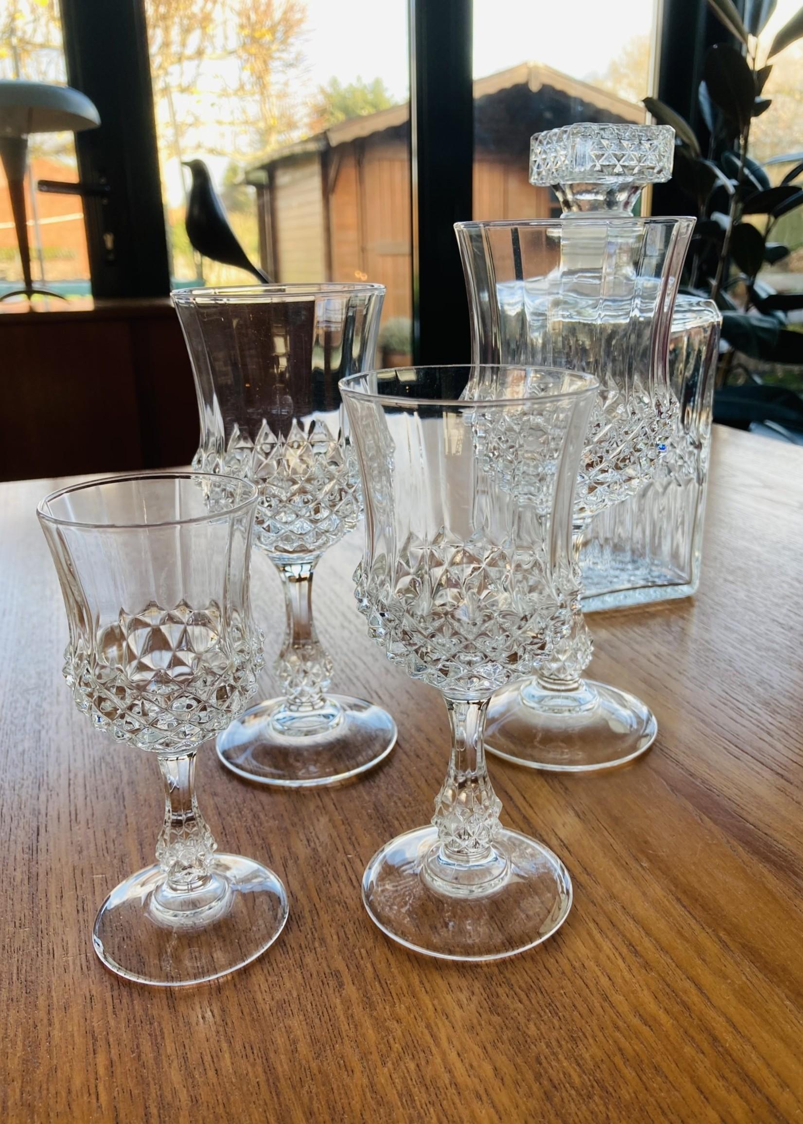 Crystal glasses - 6 Port glasses