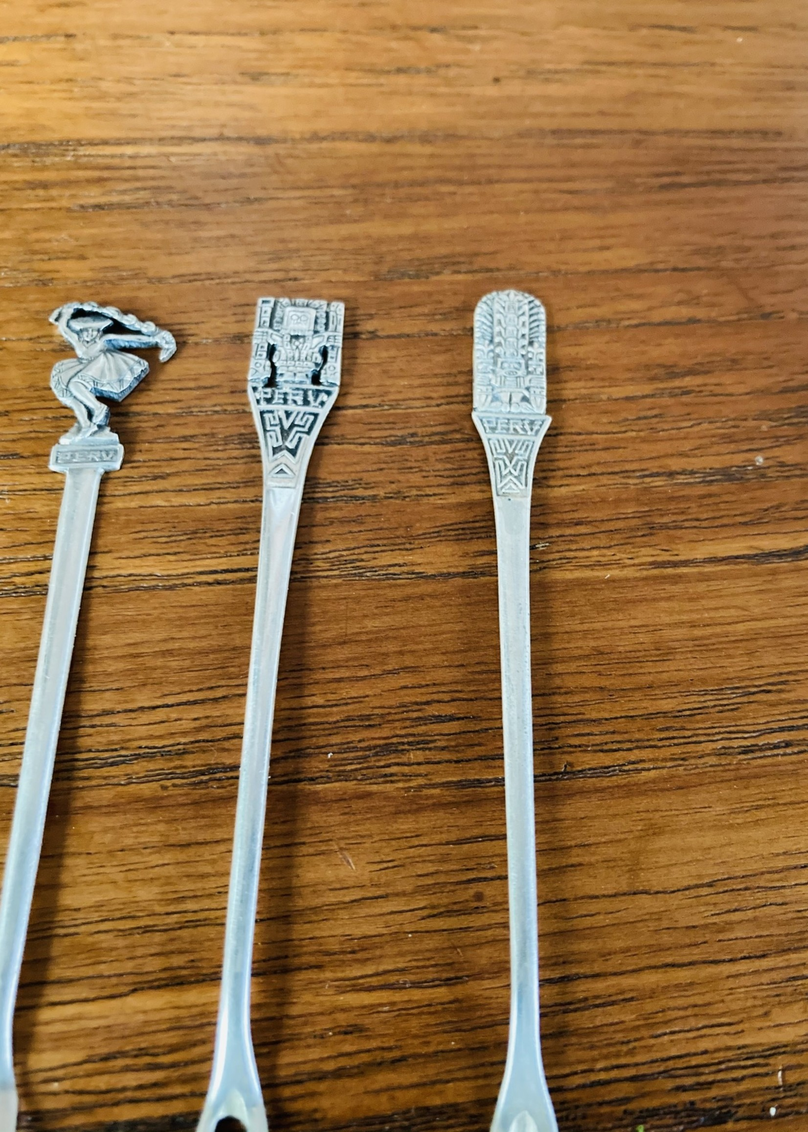 Mini aperitif forks silver South America (set of 12)