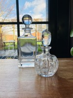 Small round carafe in chiselled crystal