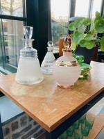 Vintage clear frosted glass carafe (without gold)
