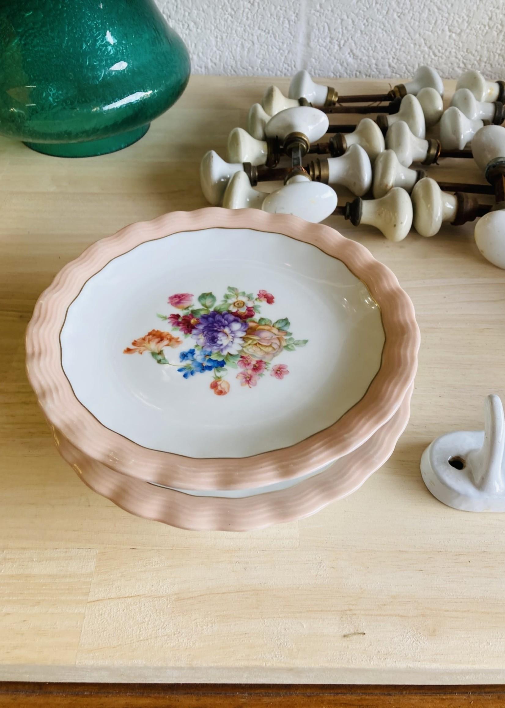 Limoge ULIM, Floral rose, Pie display small