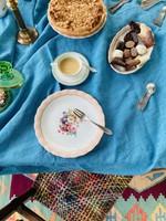 Limoge ULIM, Floral rose, Dinner plates