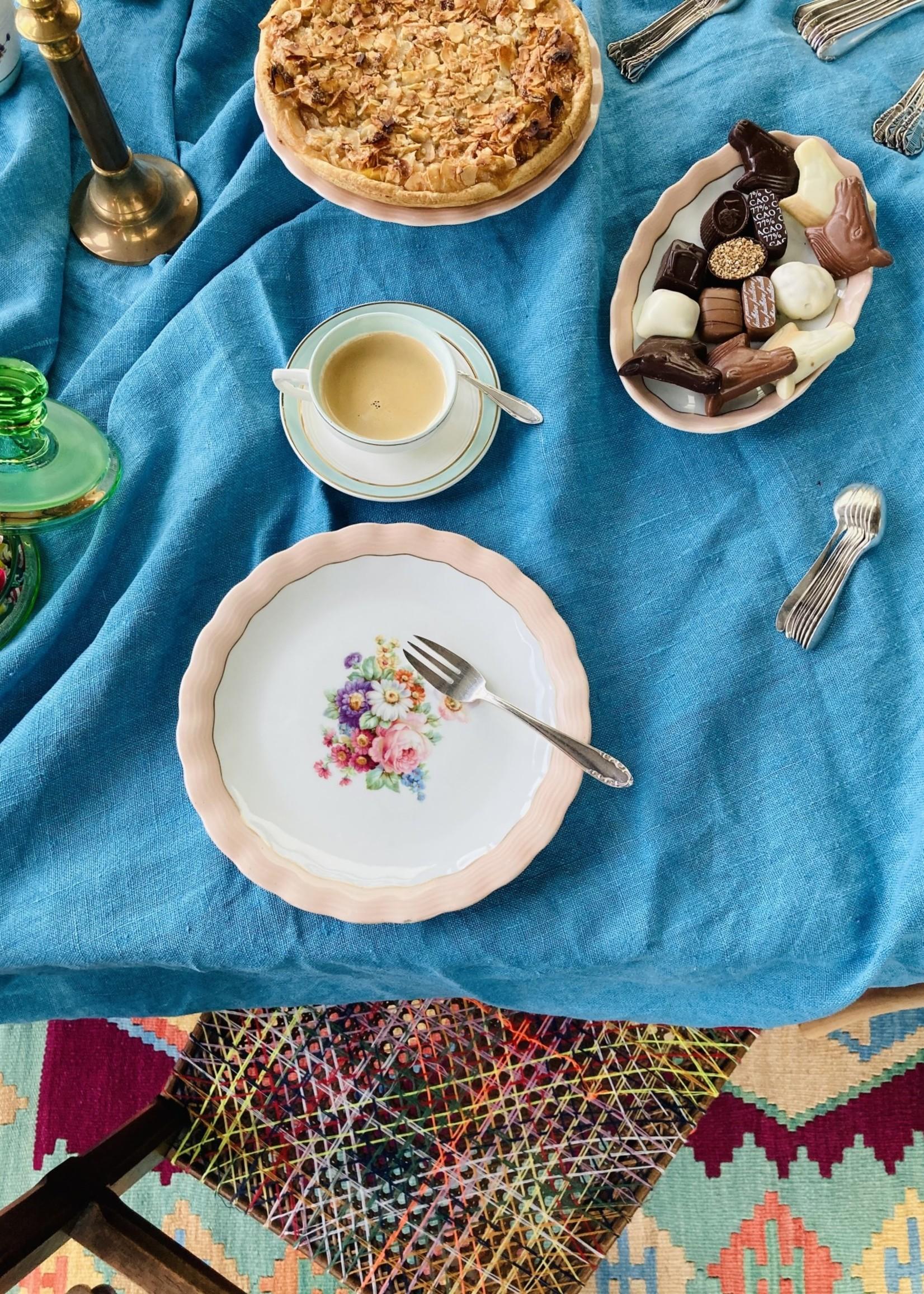 Limoge ULIM, Floral rose, Dinner plate