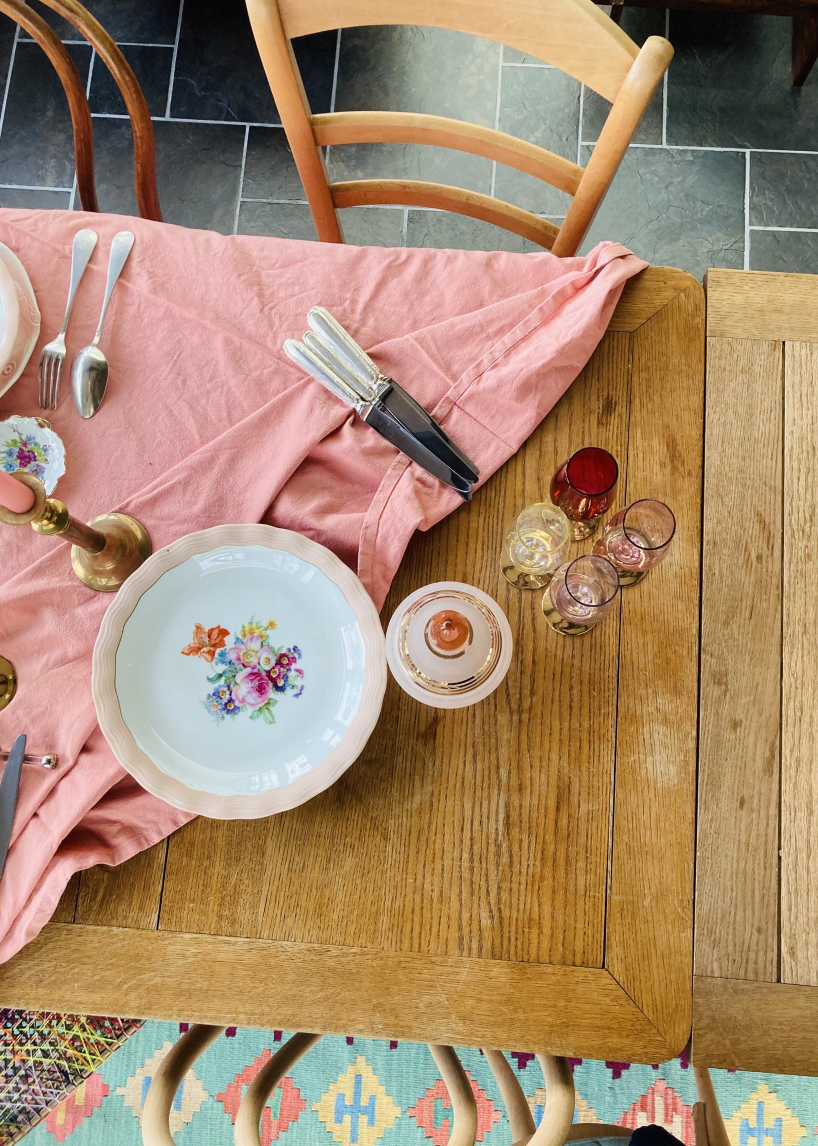 Limoge ULIM, Floral rose, deep plates