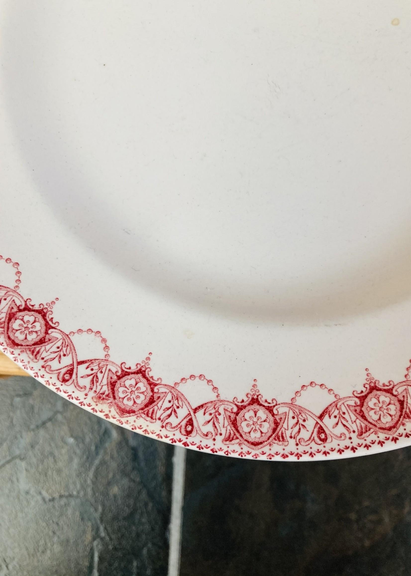 Dinner plate Ramona by Boch, pink decor