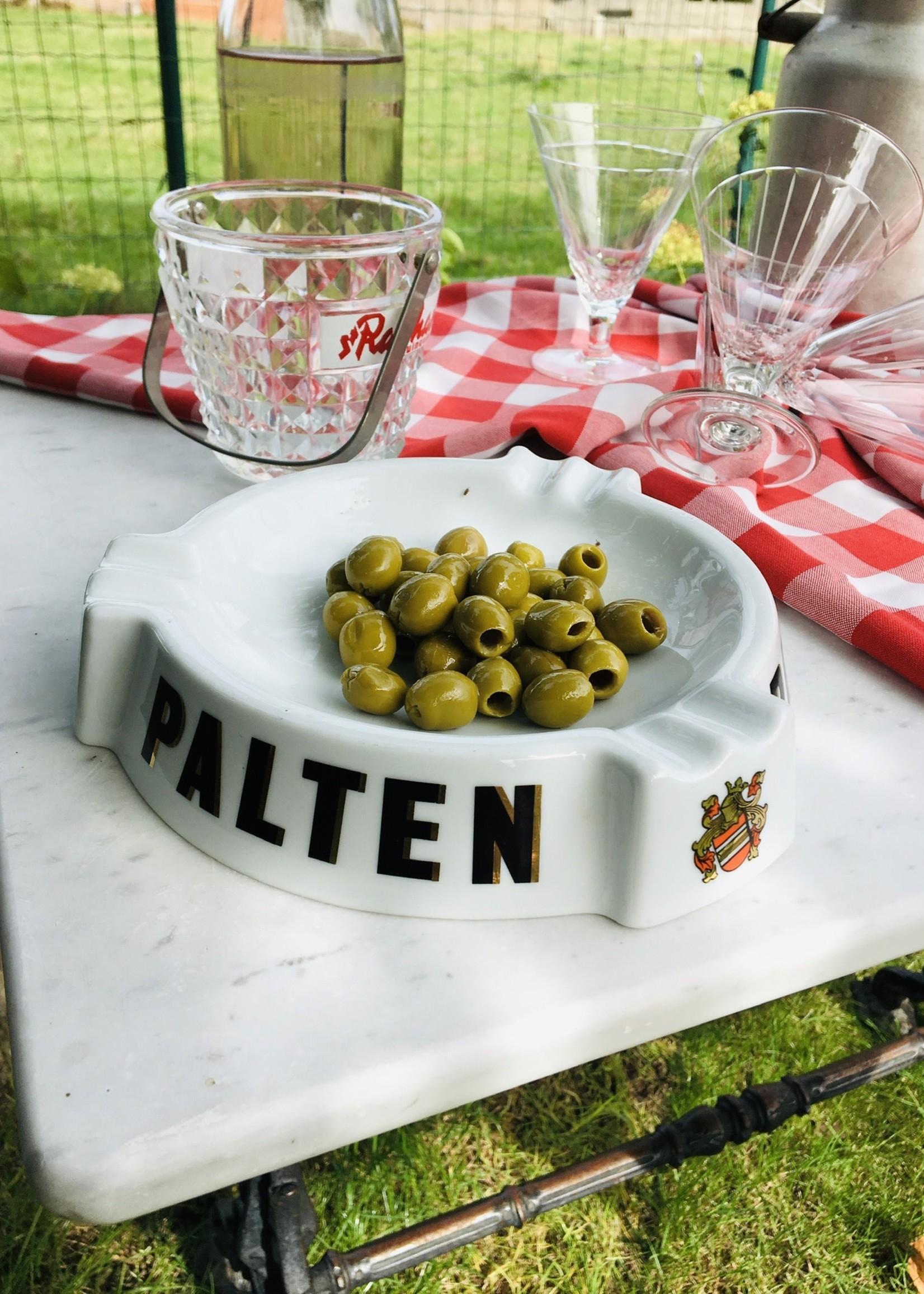 Palten ceramic ashtray with gold design