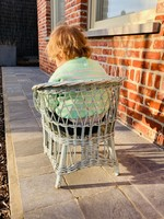 Blue childrens Rattan chair