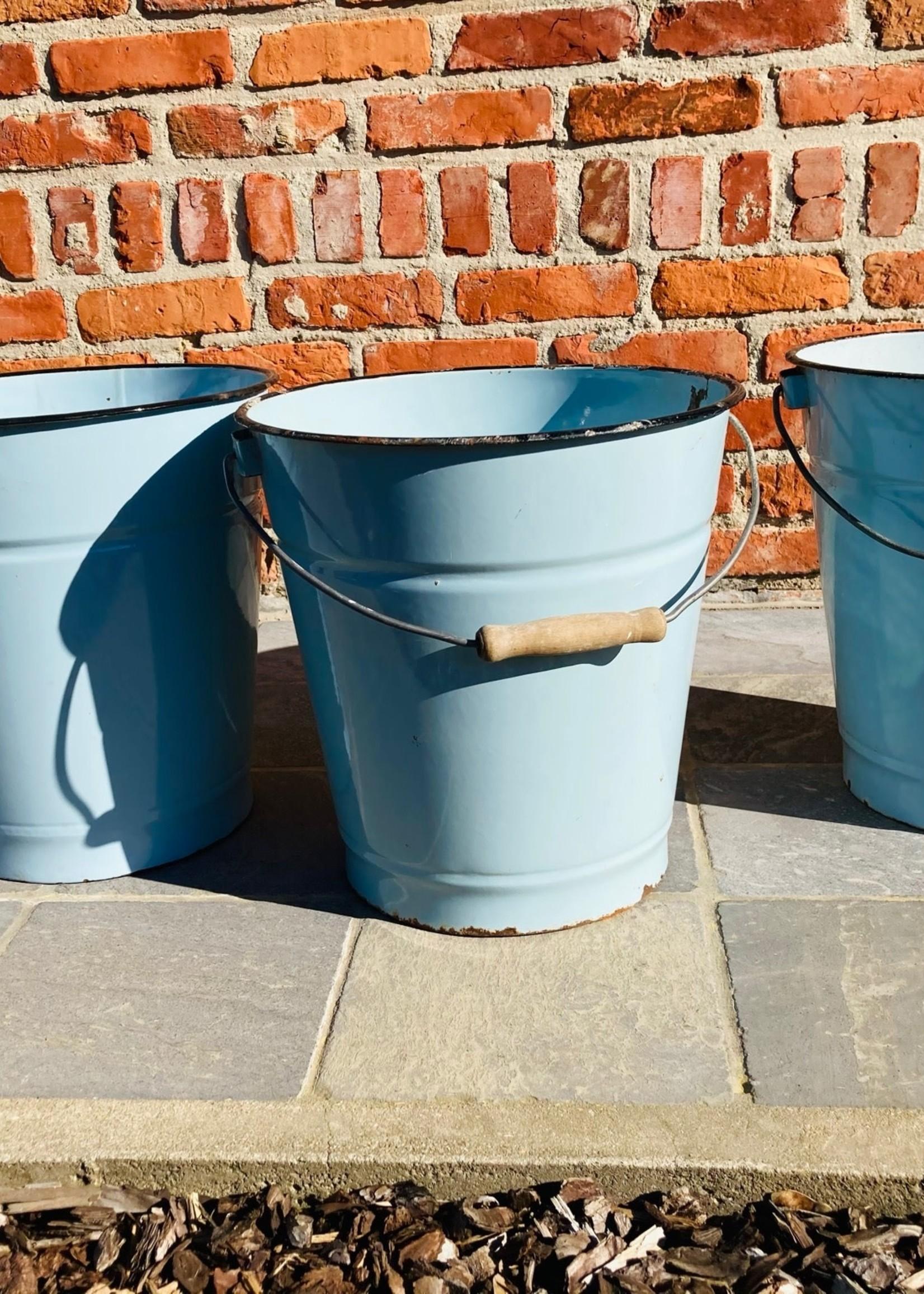 Enamel blue bucket