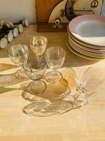 Set of 6 Wine glasses in pastel colours