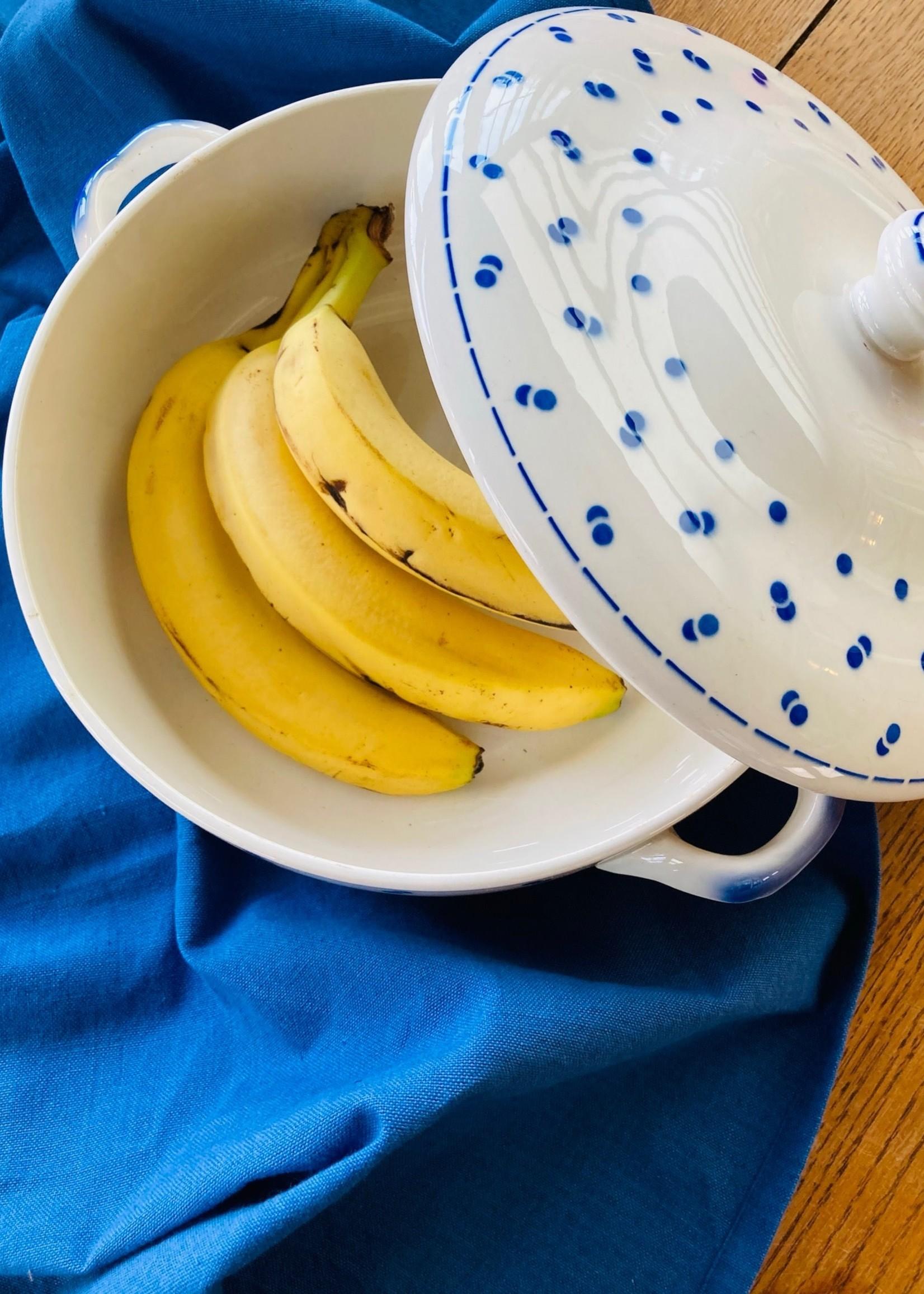 Soup dish deco Blue confettis Boch
