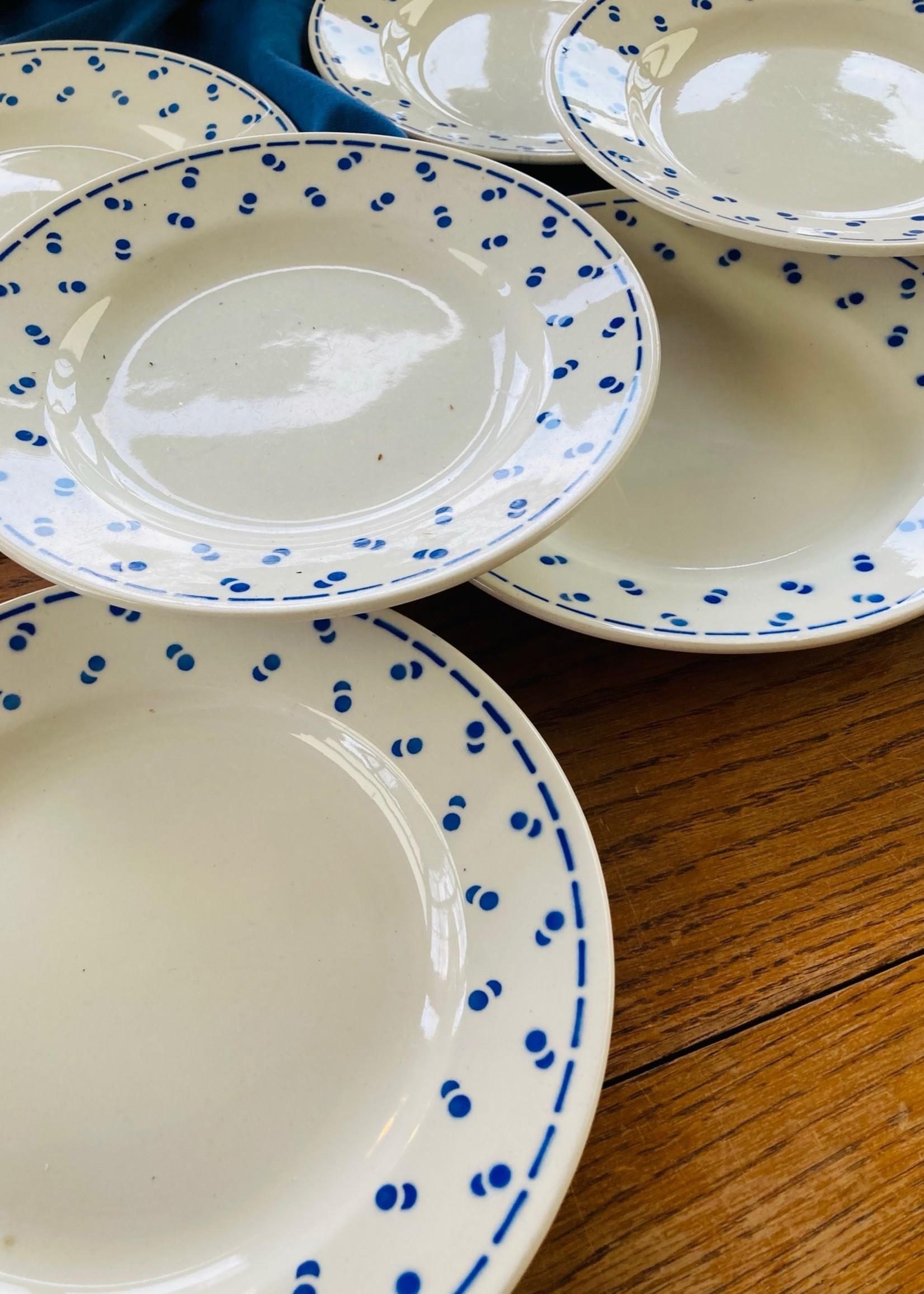 Dessert plates deco Blue confettis Boch