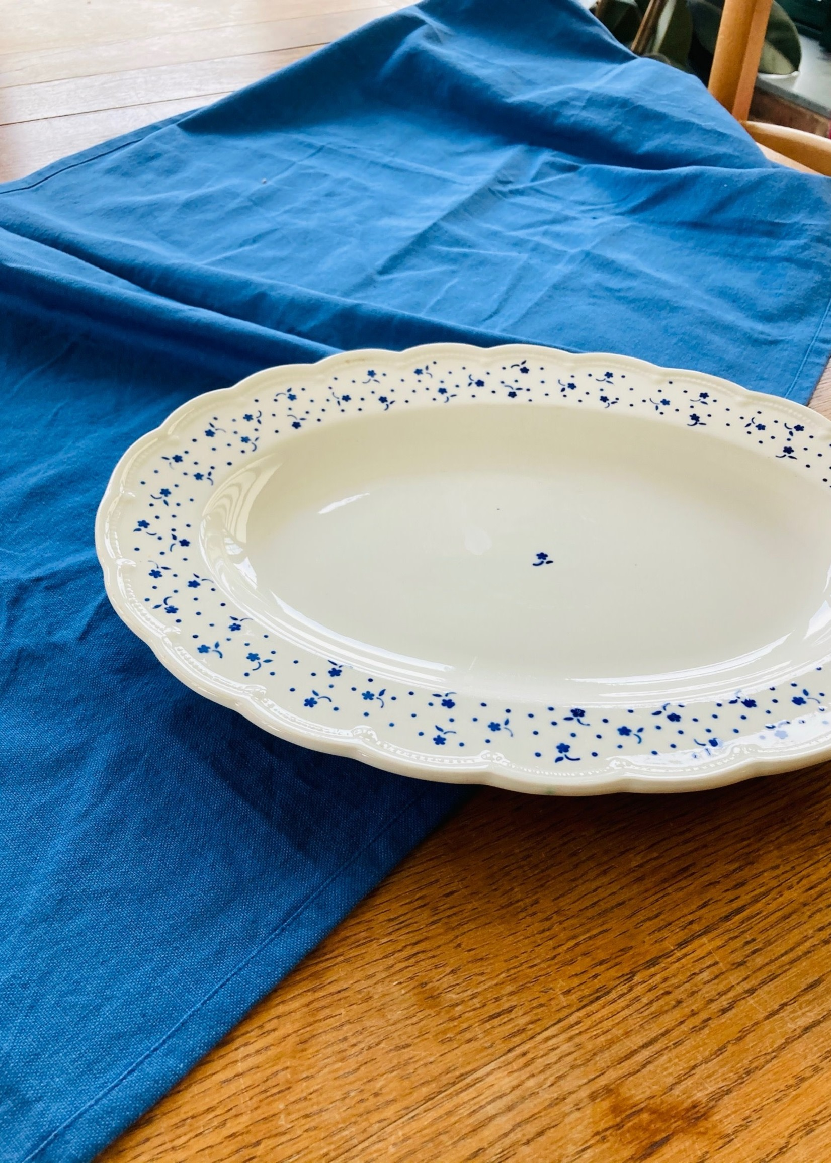Oval dish deco Flora Blue by Boch