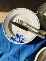 Large floral plates blue flower decoration and circle by Boch