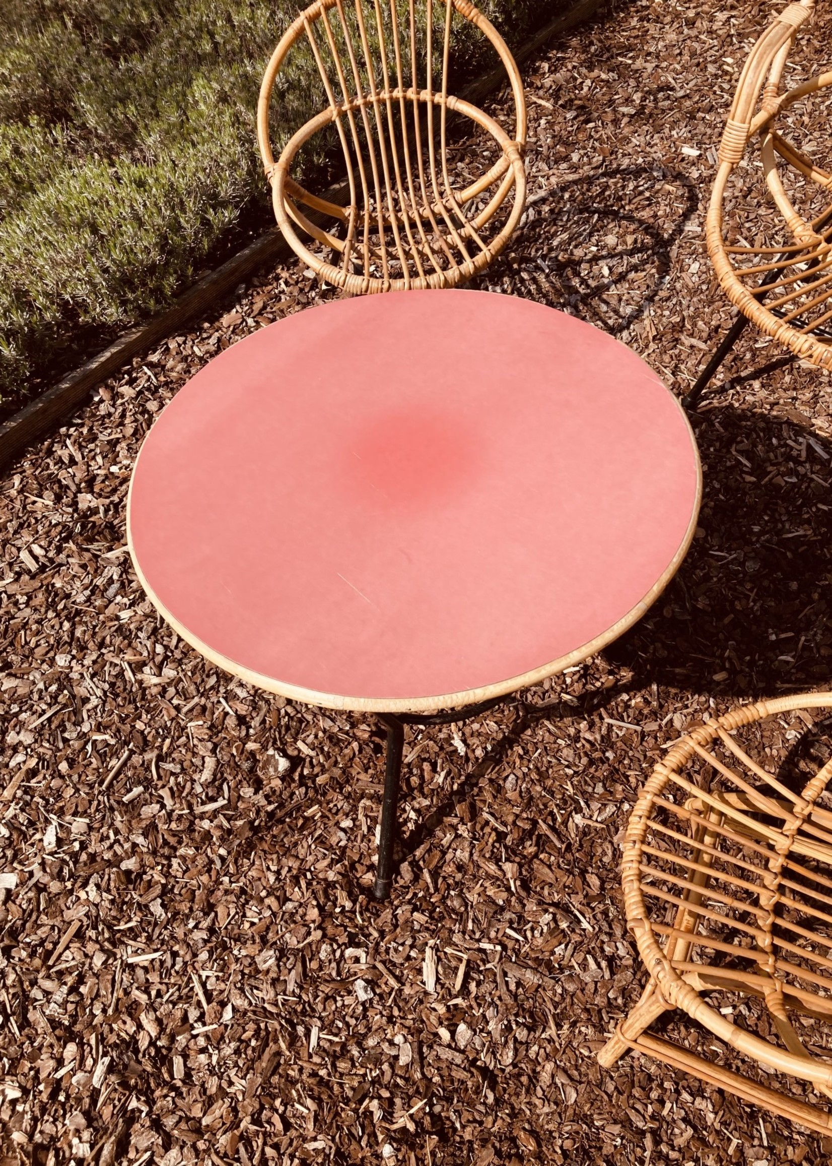 Rohé Noordwolde Low table with Reddish table top