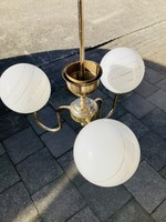 Suspension Lamp with white globes from the fifties