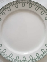 Large plates Boch Decor Bonaparte green