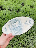 Pralinier dish Terre de Fer from Boch blue green decor