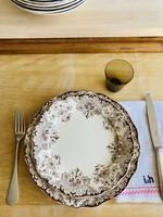 Deep Plates Boch Dordrecht brown