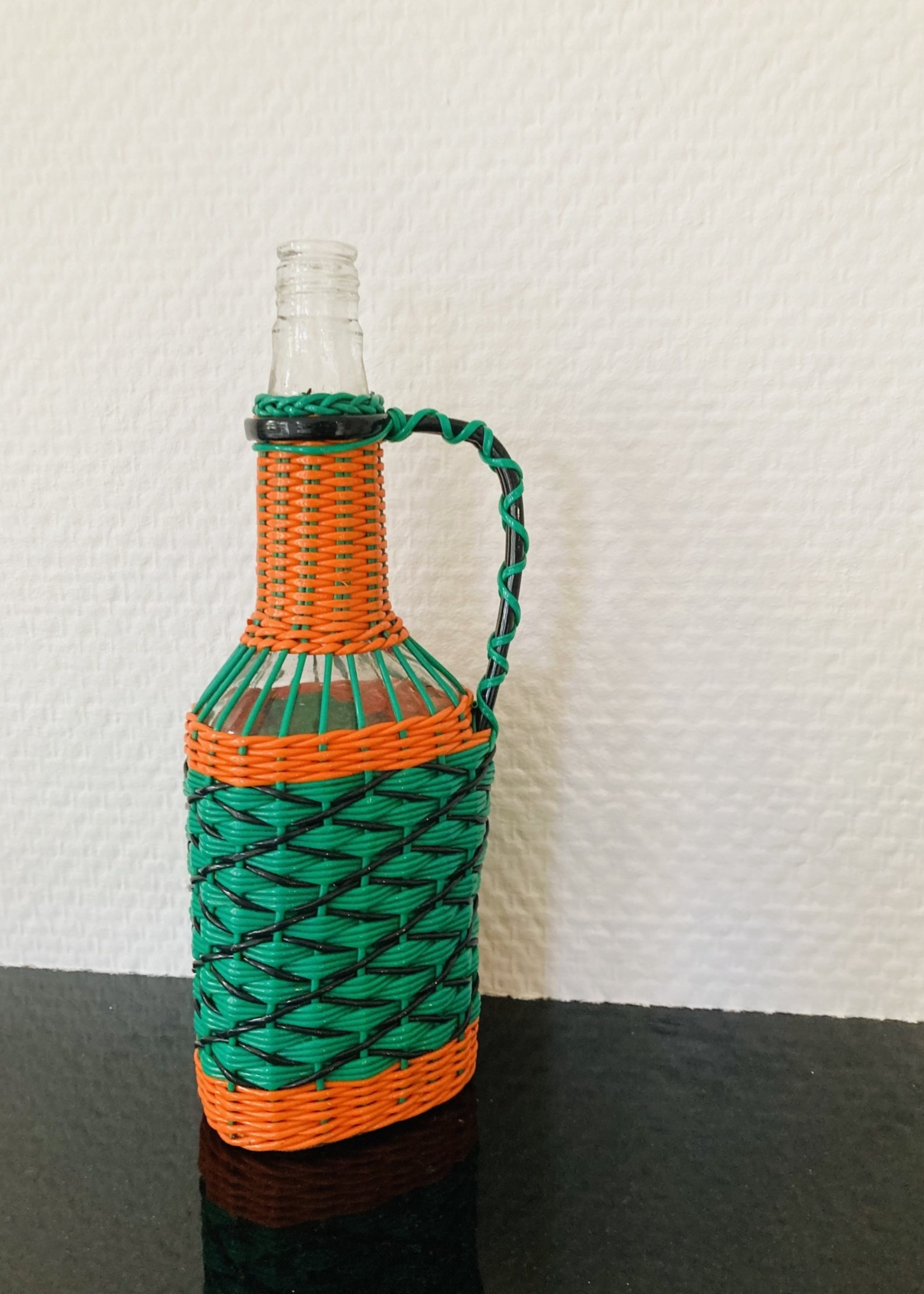 Seventies bottle with Scoobidoo decoration and