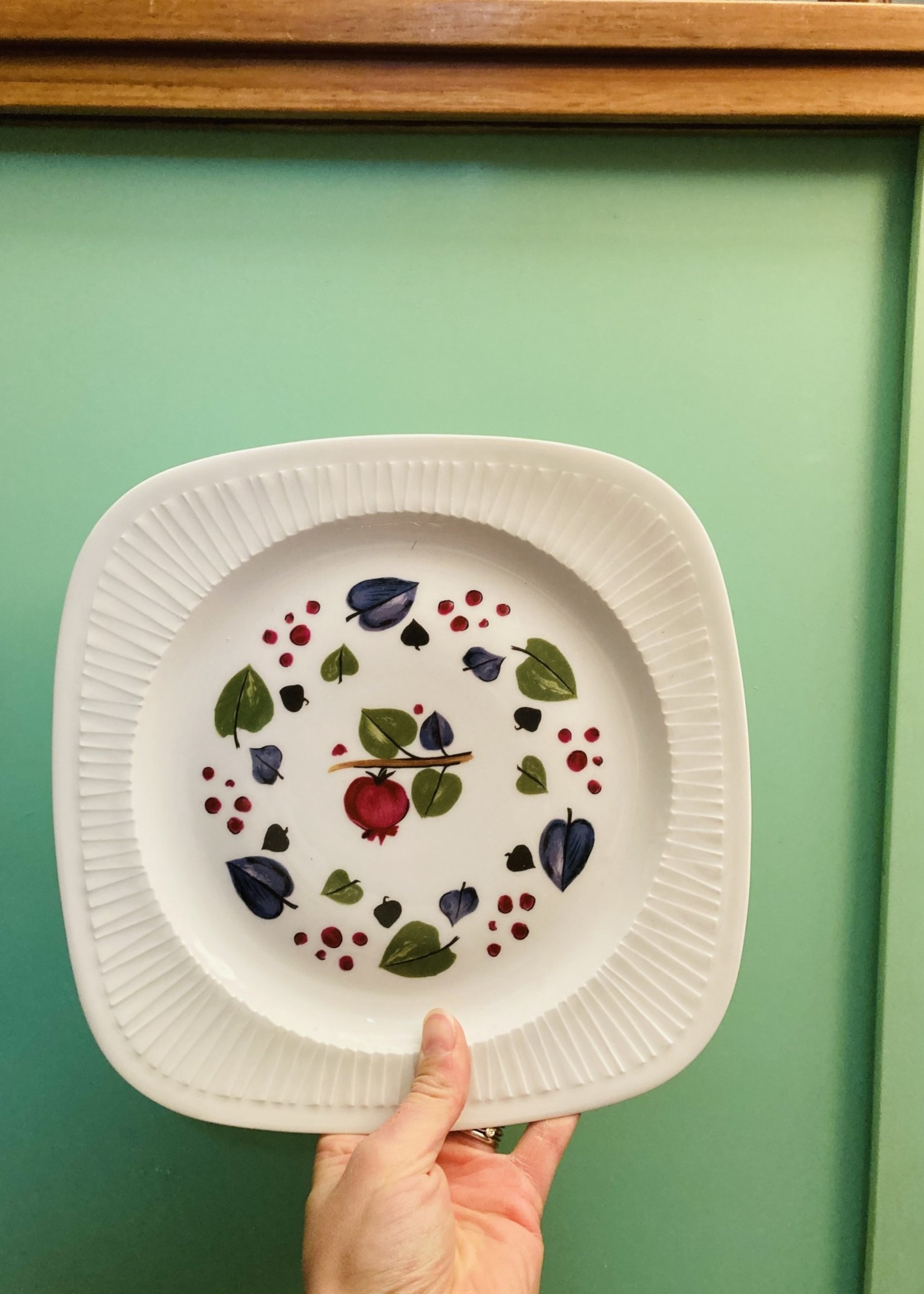 Small plates in Limoges Porcelain decor Haveland