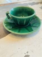 Dark Green Mocha cups from Luneville France