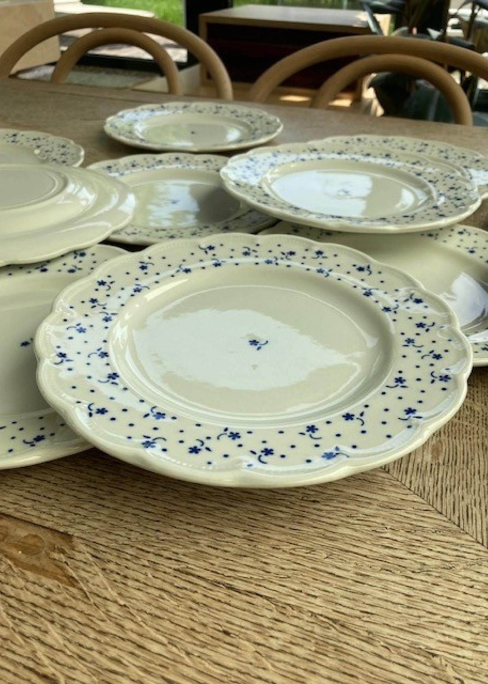 Dessert plates Flora by Boch Blue