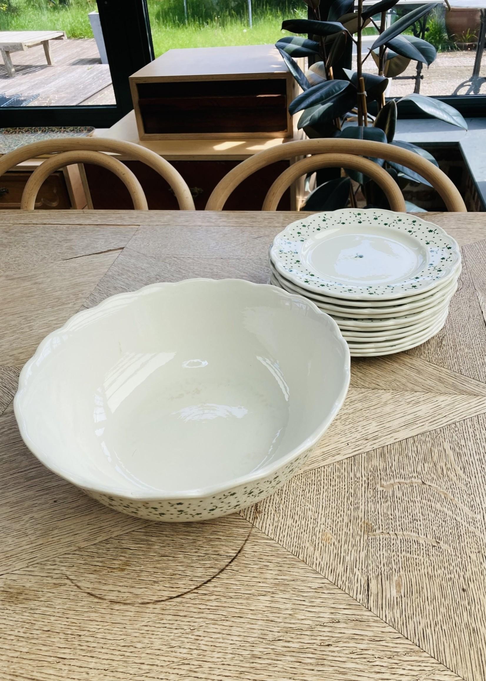 Deep bowl Flora green by Boch