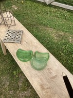 Set of 4 Antique glass supports  for old heater or table