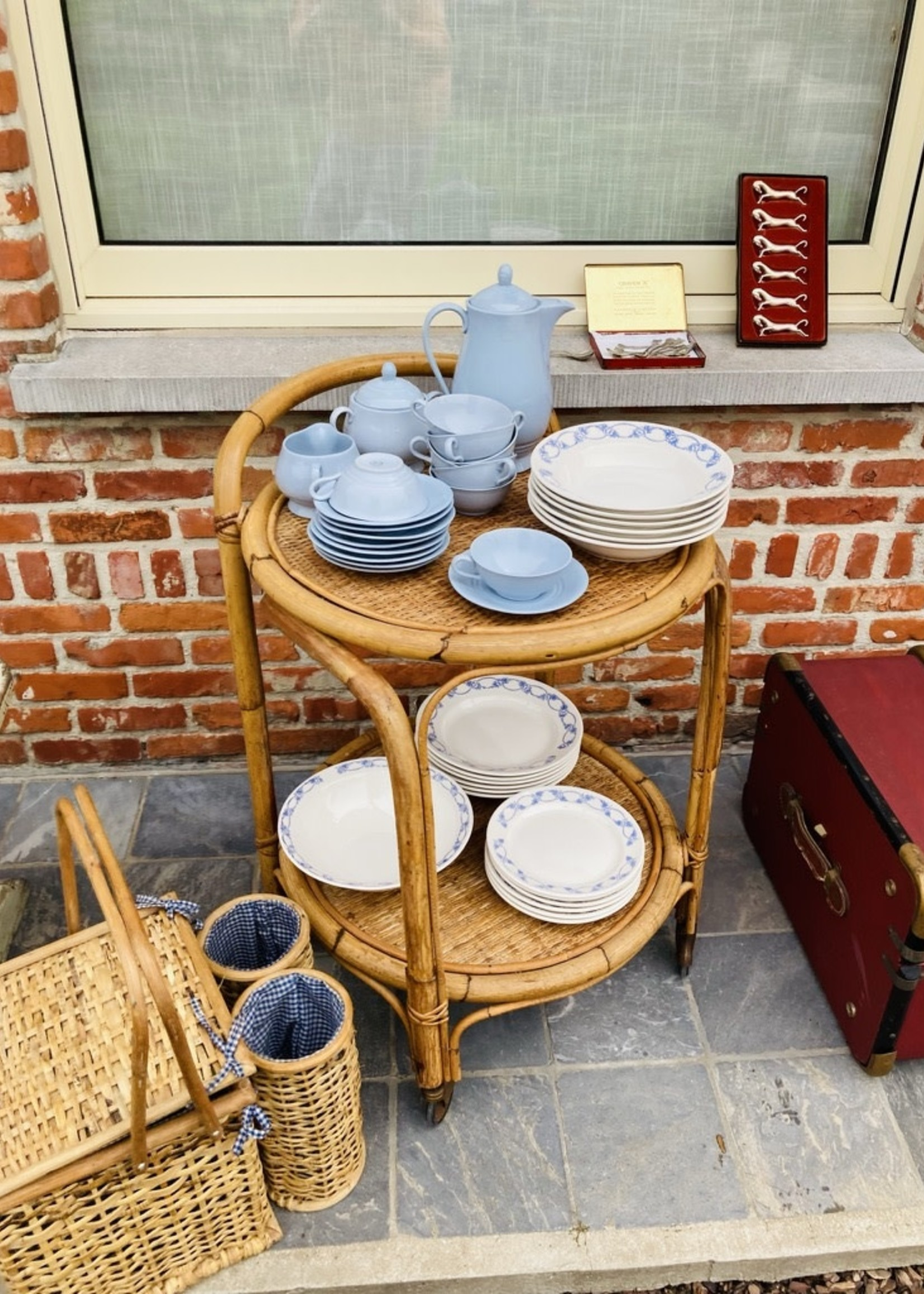 Rattan Rolling table 1970