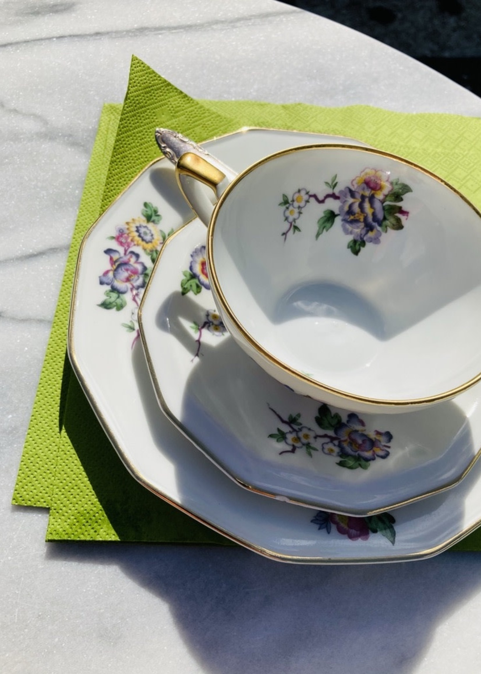 Coffee cups with plate Cerabel Porcelain from Gand