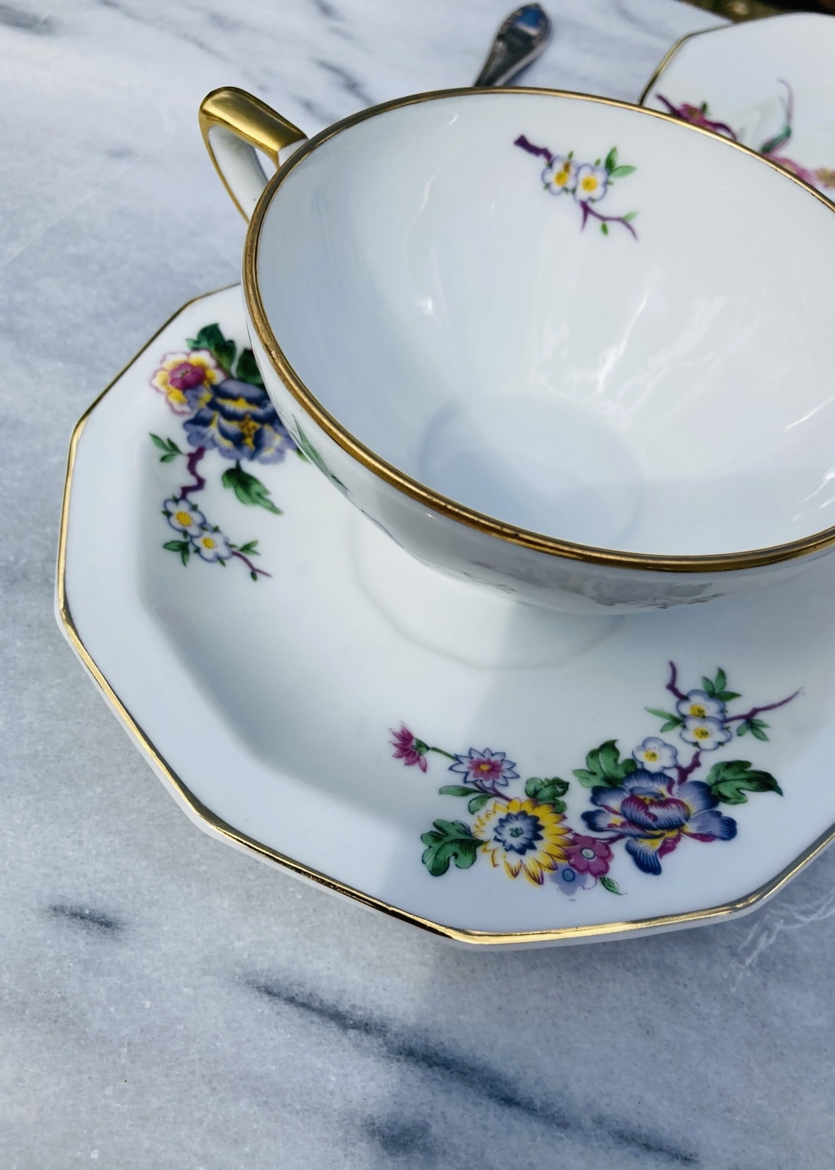 Cerabel Coffee cups with plate Cerabel Porcelain from Gand