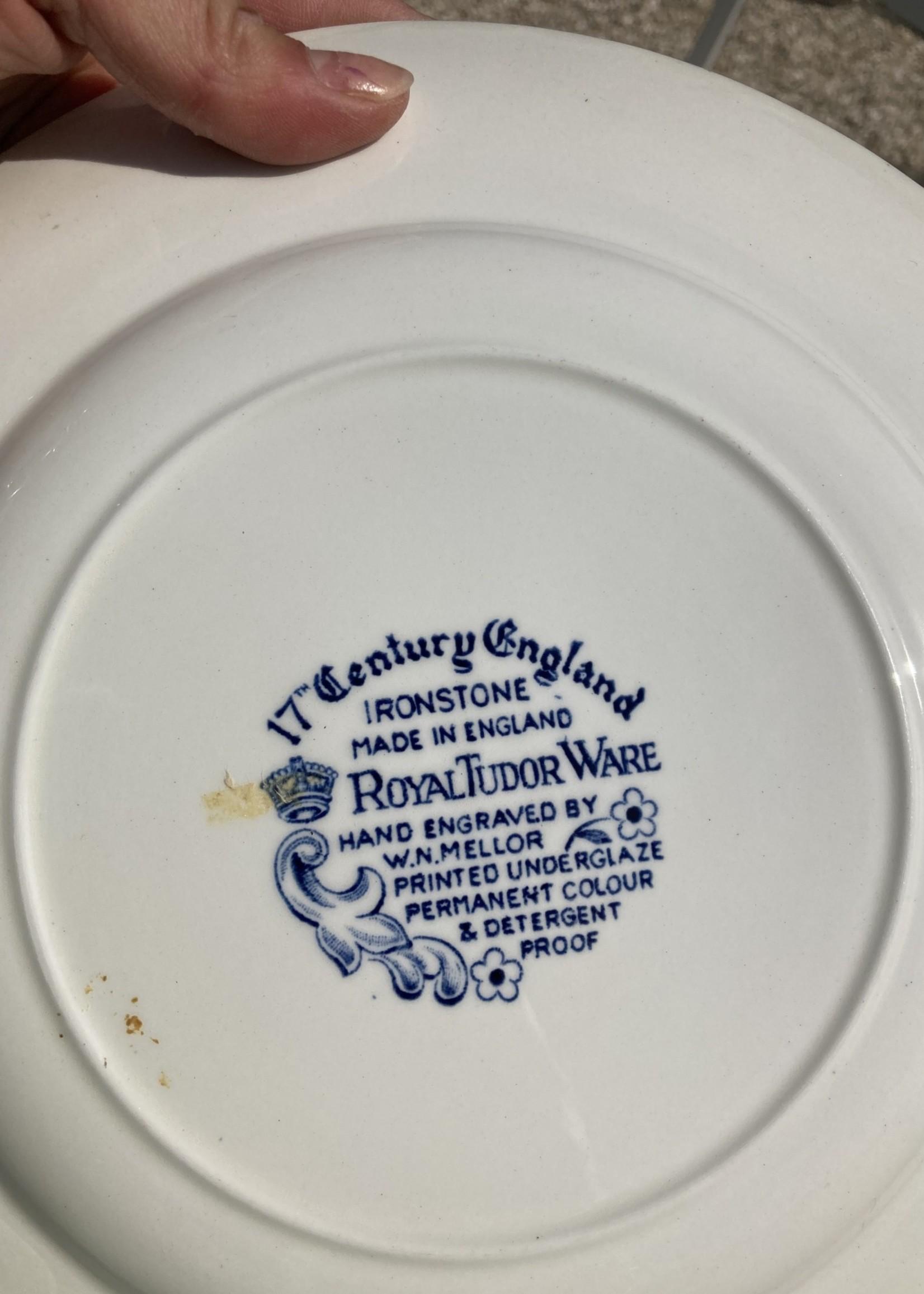 Large plates Tudor blue decoration