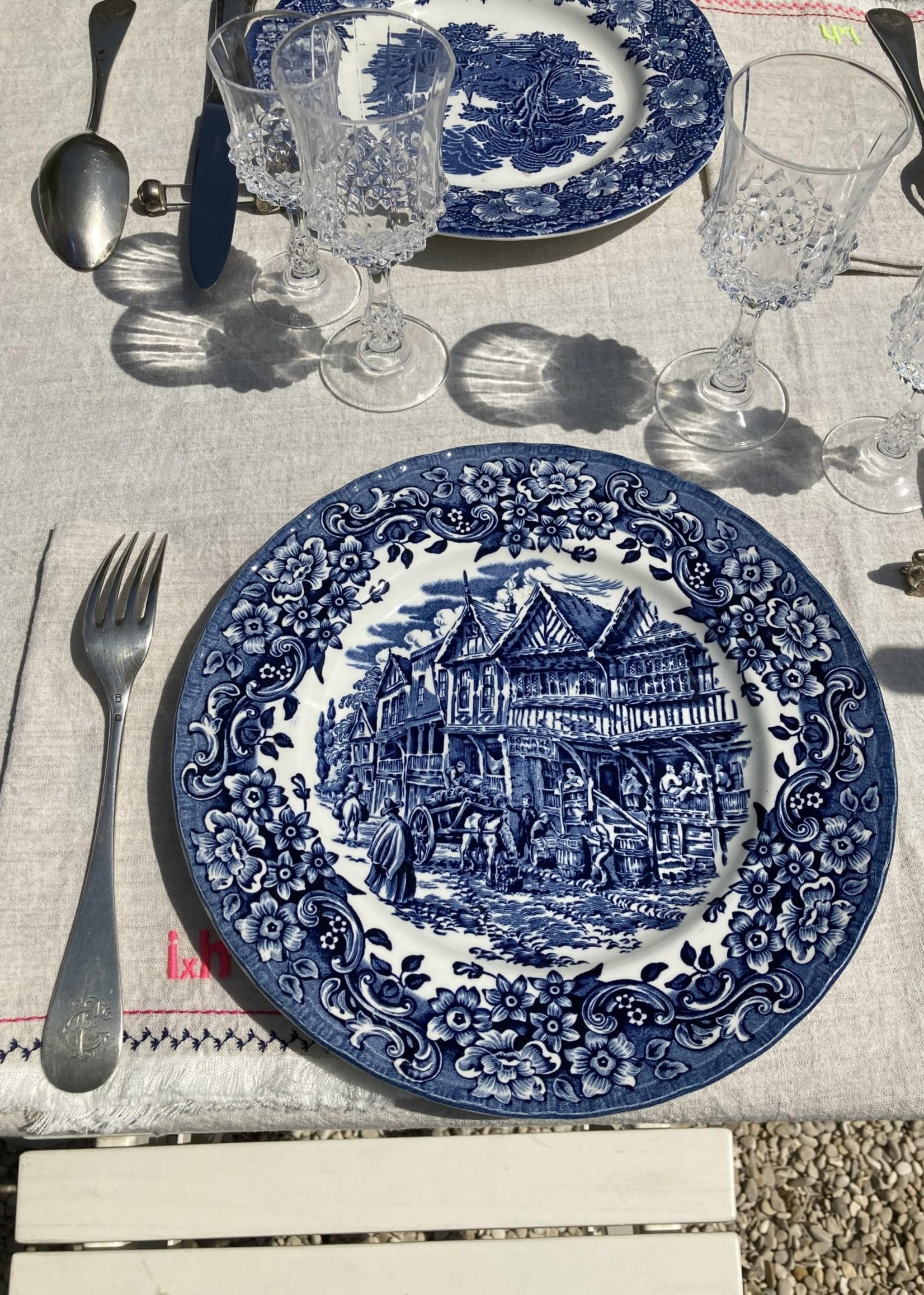 tudor Large plates Tudor blue decoration