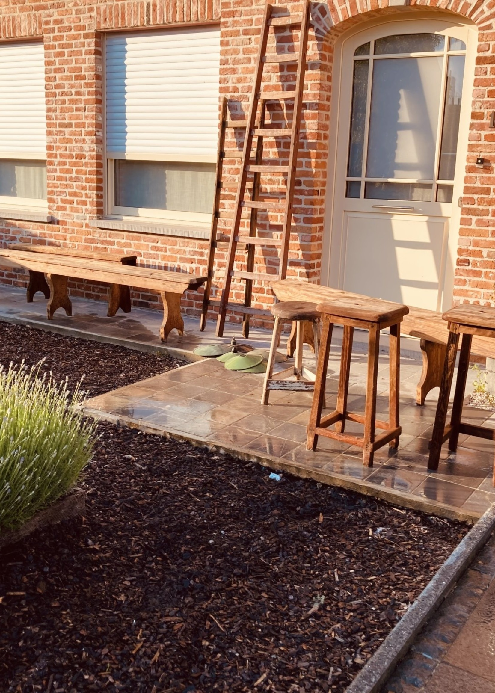 industrial wooden ladder small