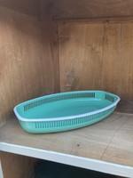 turquoise enameled Bread basket