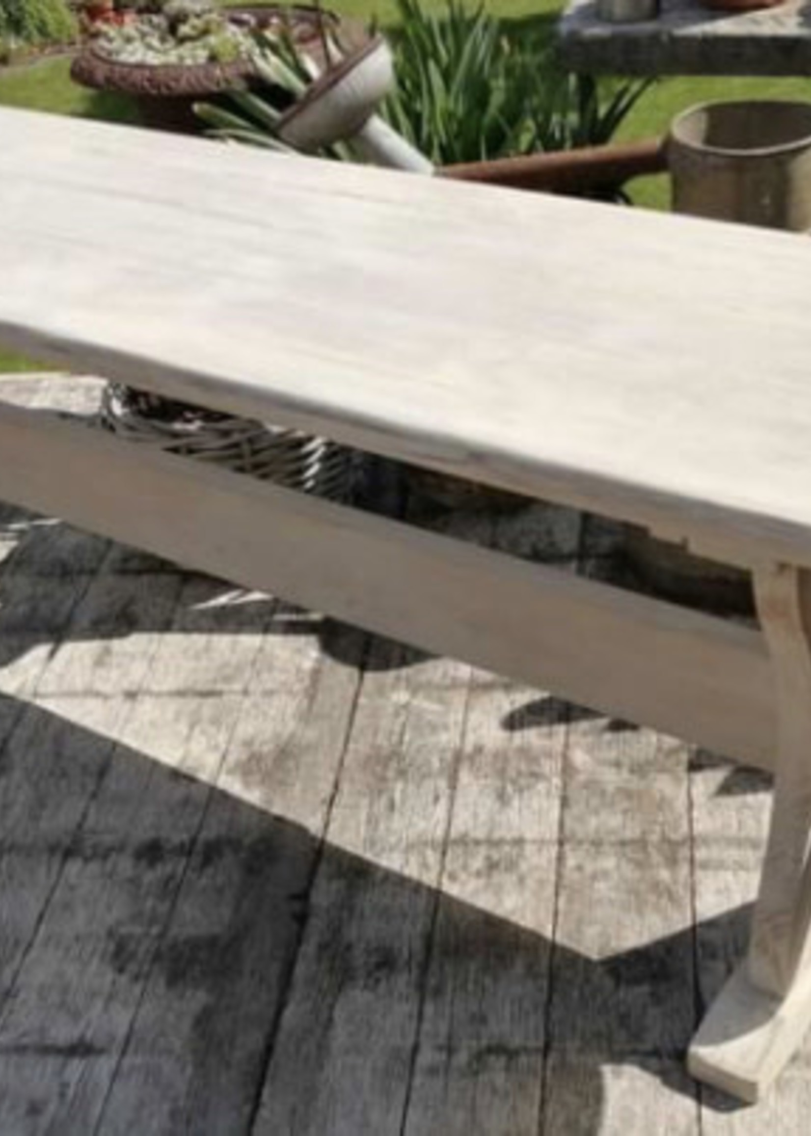 Wooden farm bench in lightwood