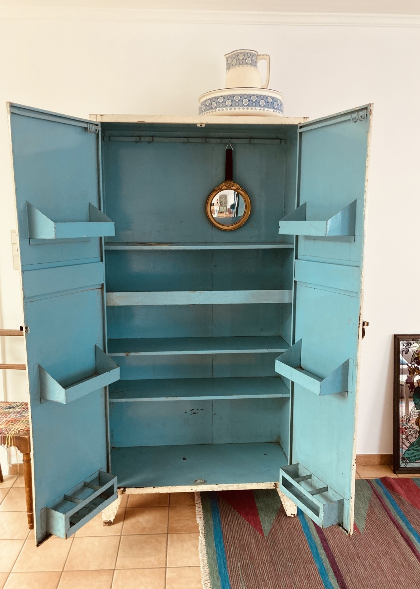 Antique metal food  storage