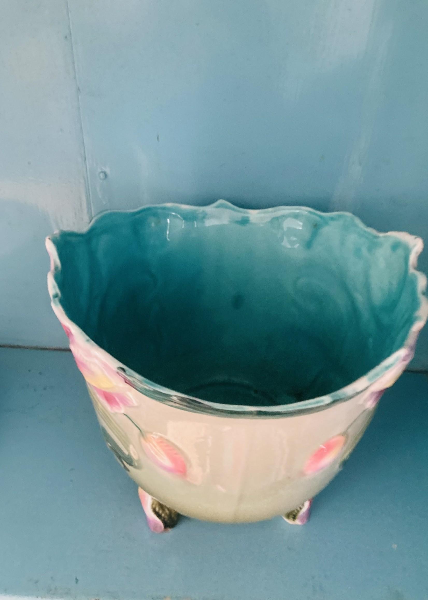 Cache Pot in Barbotine from Nimy Belgium