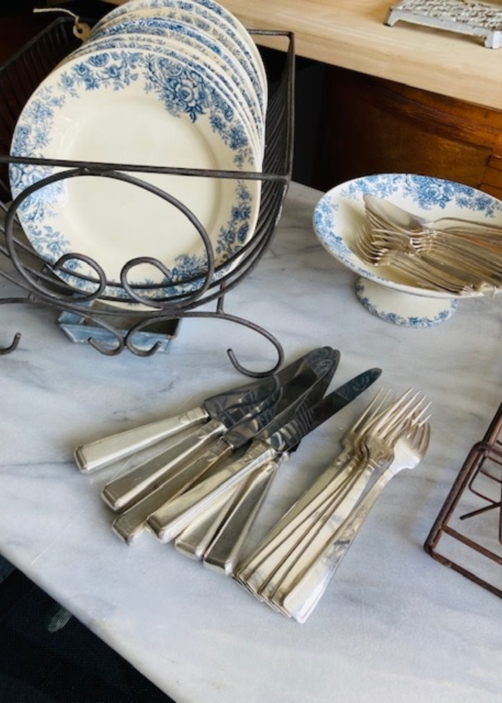Art Deco Silver plated Knifes (Set of 6)