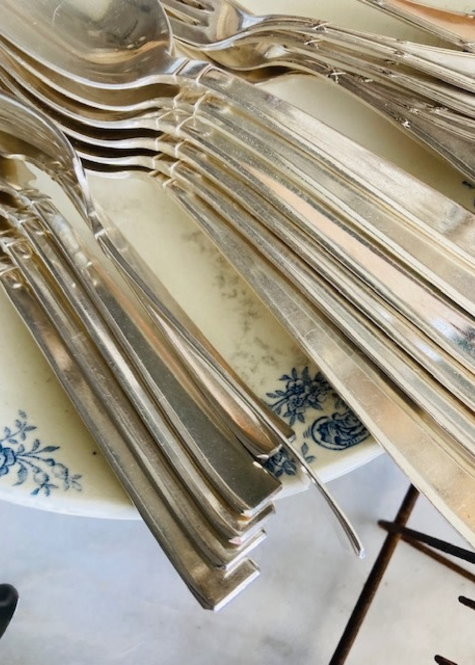 Art Deco Silver plated forks, Set of 6