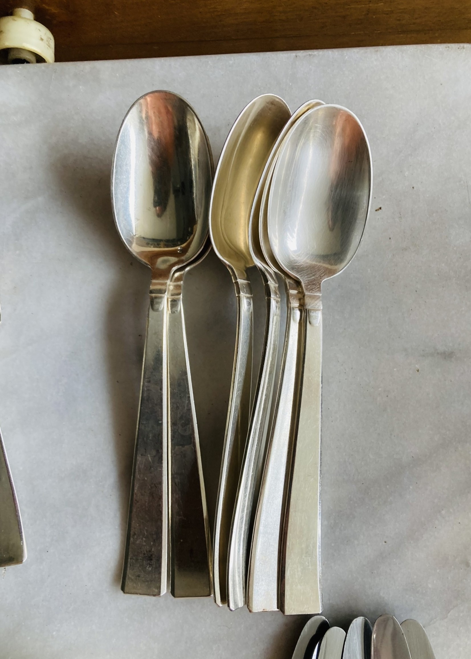 Art Deco Silver plated Spoons, Set of 6