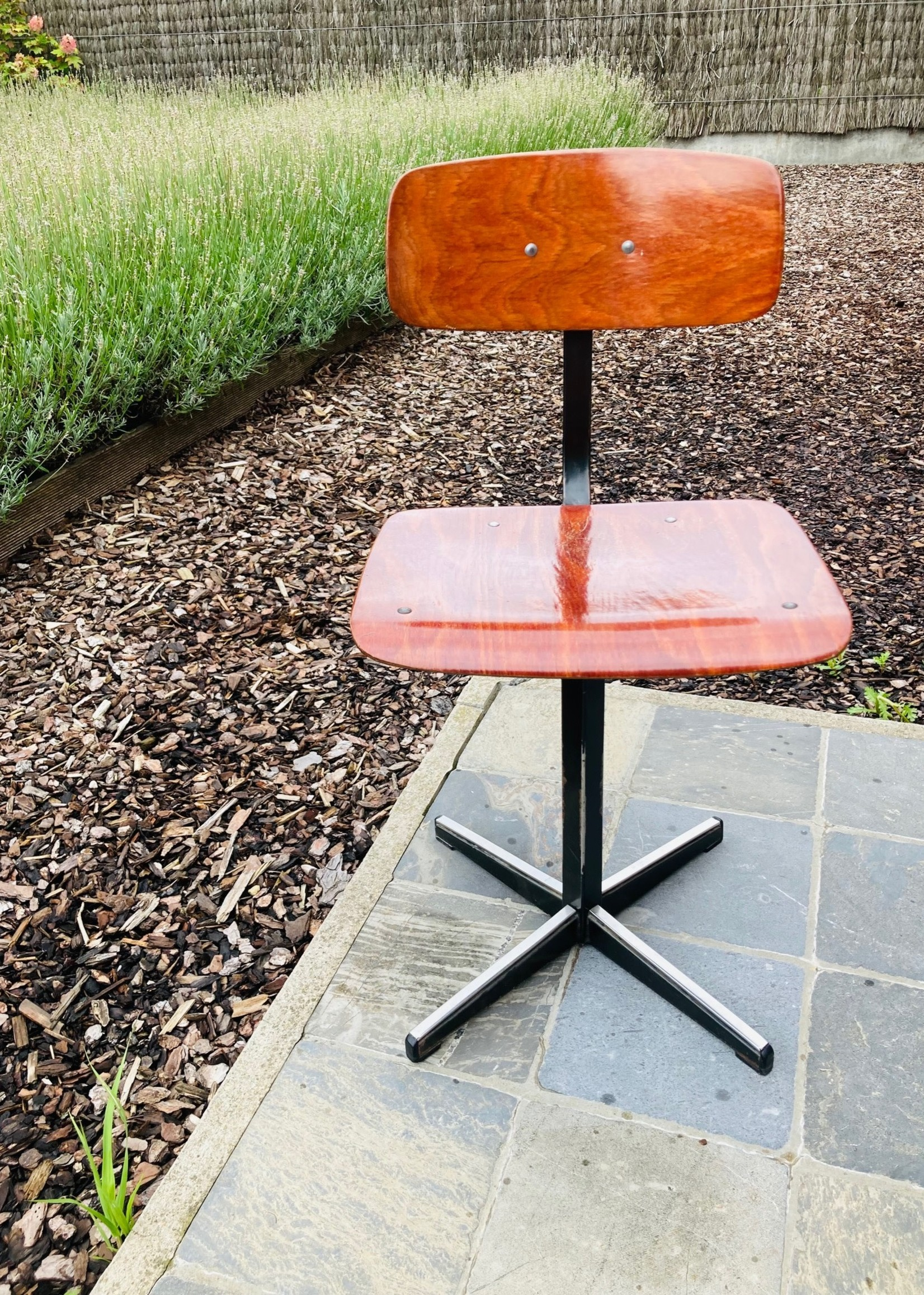 Kids office chair from the fifties on metal base