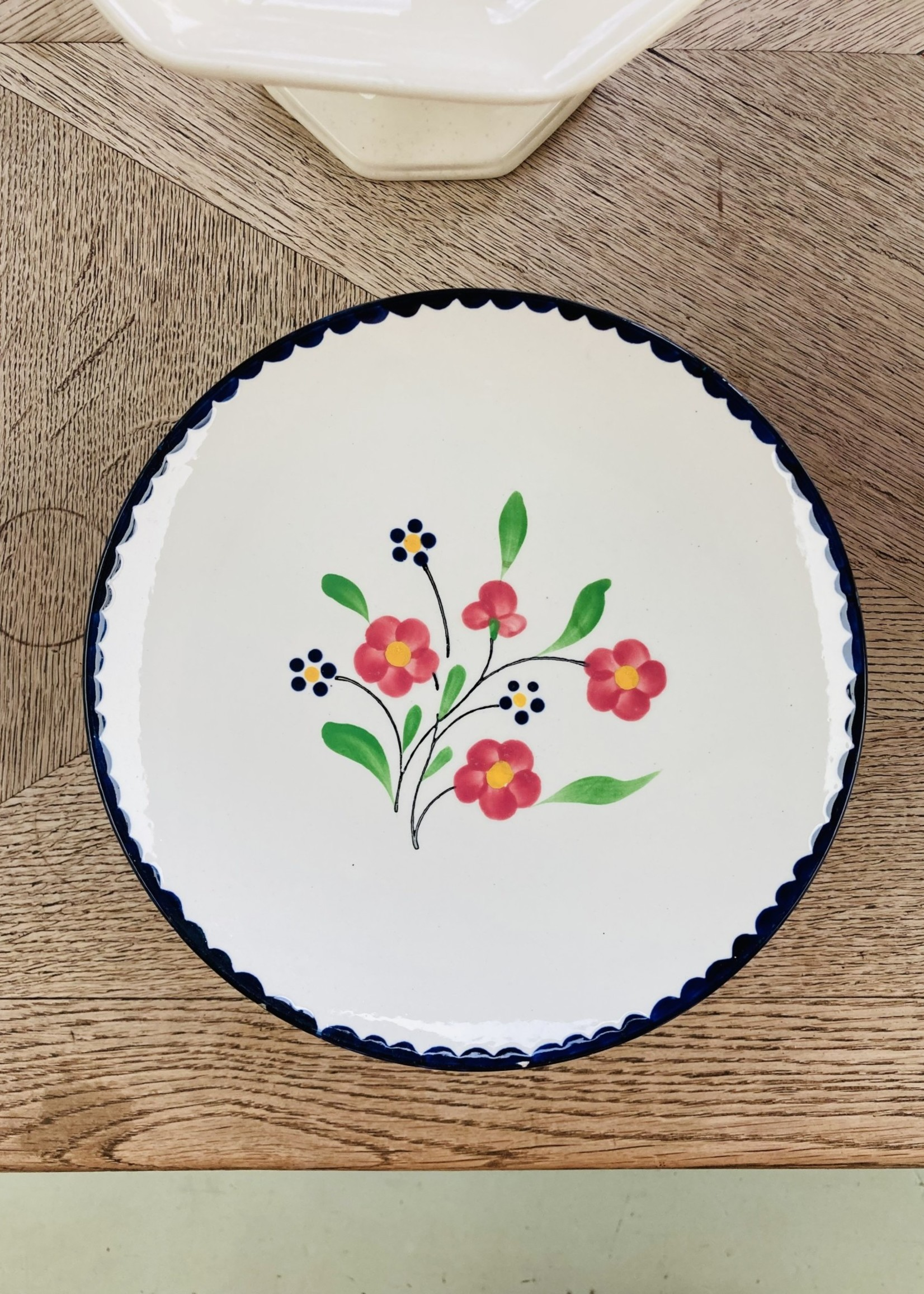 Rosemonde Compotier from Salins with floral decoration