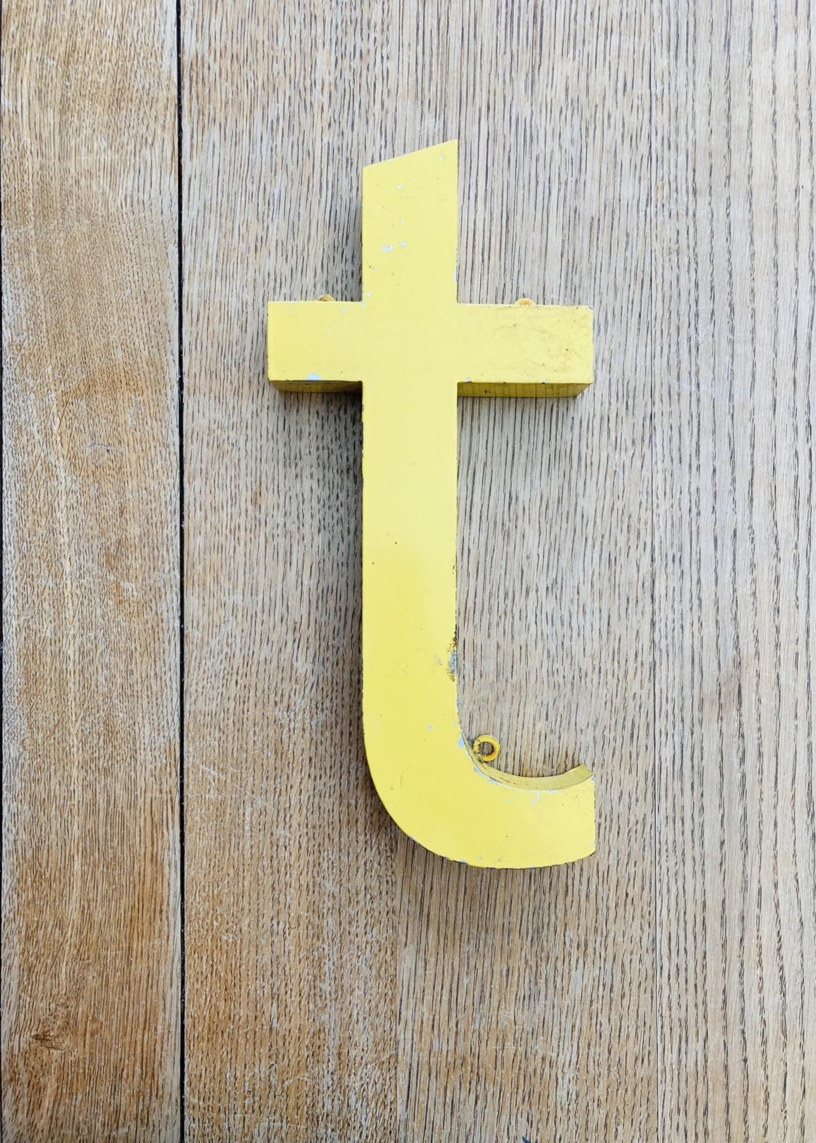 """Metal Letter sign """"t"""""""